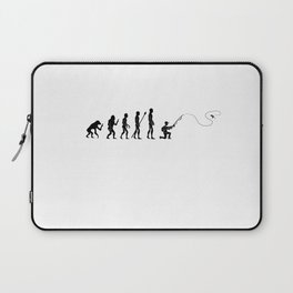 Human Evolution Fisherman Fly Fishing Fishermen Laptop Sleeve