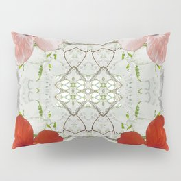 Passion for red_white symmetry Pillow Sham