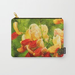 Orange flowers 3 Carry-All Pouch