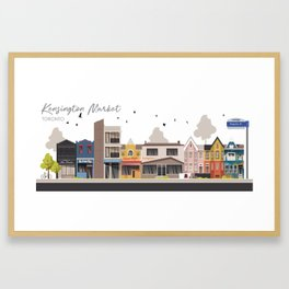 Kensington Market 1 - Toronto Neighbourhood Framed Art Print