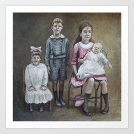 Blended family (Famille recomposée) Art Print