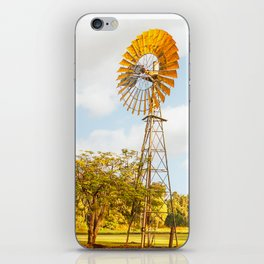 Windmills are gold in the Outback! iPhone Skin