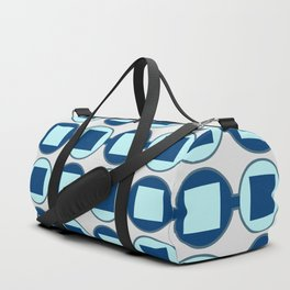 Candy Sweet Blues Pattern Duffle Bag