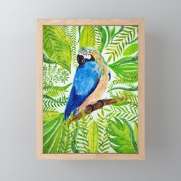 Aloha Tropical Bird Love Framed Mini Art Print