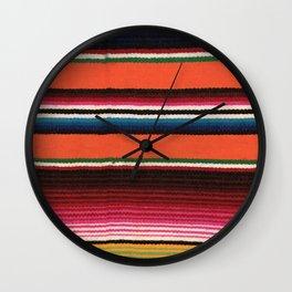 BEAUIFUL MEXICAN SERAPE Wall Clock