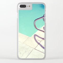 Summer Pool Clear iPhone Case