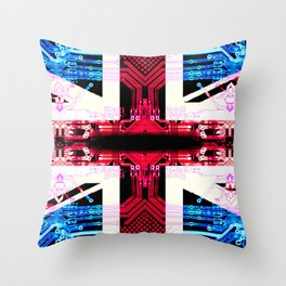circuit board United Kingdom (flag) Throw Pillow