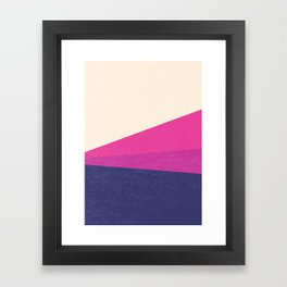 Stripe IV Violet Ray Framed Art Print