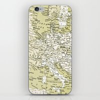 europe iPhone & iPod Skins featuring 1938 Europe by inourgardentoo