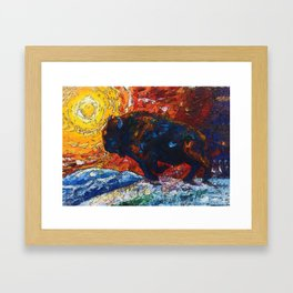 Wild the Storm Framed Art Print