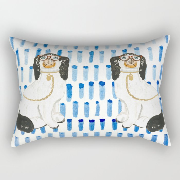 BESPECTACLED on BLUE Rectangular Pillow