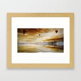Hot Air Balloon Escape Framed Art Print
