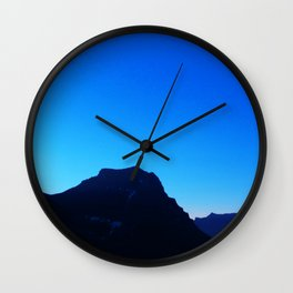 Dawn at Glacier National Park, Rocky Mountains, Going to the Sun Road, Logan Pass Wall Clock