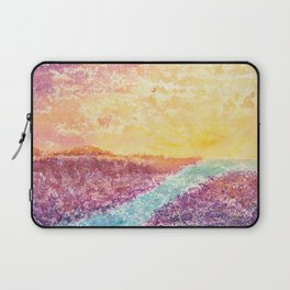 Magical Sunset Watercolor Illustration Laptop Sleeve