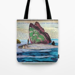 The supremacy of the message Tote Bag