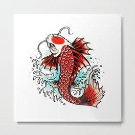 Red koi carp Metal Print