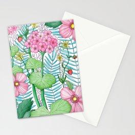 Pelargonium / White background Stationery Cards