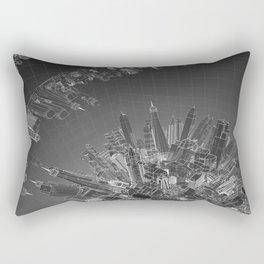 Future City Dark Rectangular Pillow