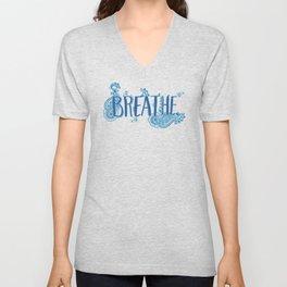 Breathe in blue Unisex V-Neck