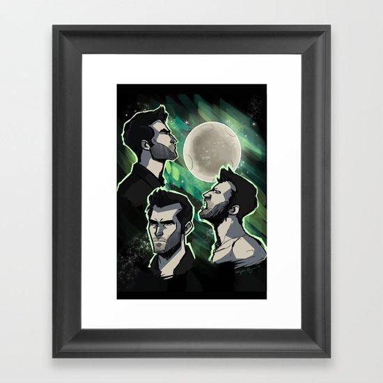 Three Derek Moon Framed Art Print