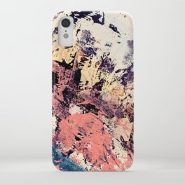 Brilliance: vibrant, colorful and textured in purple, gold, pink, blue, and white iPhone Case