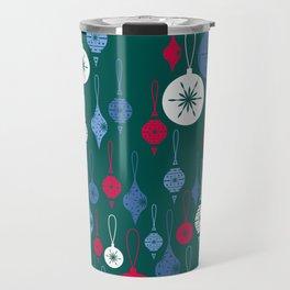 Christmas Baubles - Green Travel Mug