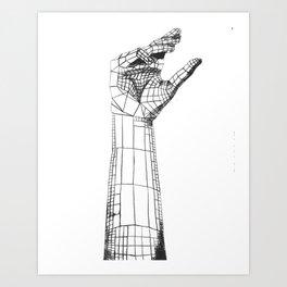 Planar Hand Art Print