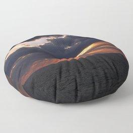 sunset on the ocean Floor Pillow