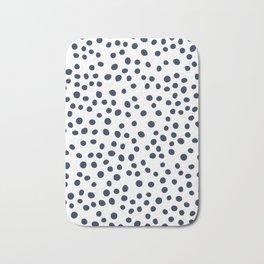 Dark blue vector doodle circle dot Bath Mat