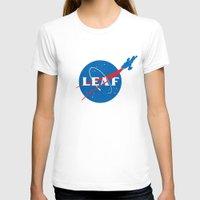 leaf T-shirts featuring LEAF by geekchic