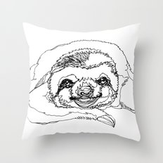 Lazy Slothurday Throw Pillow