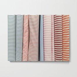 Bolt-Candy Stripes Metal Print