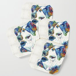 Colorful English Bulldog Art By Sharon Cummings Coaster