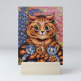Cat and Her Kittens-Louis Wain Cats Mini Art Print