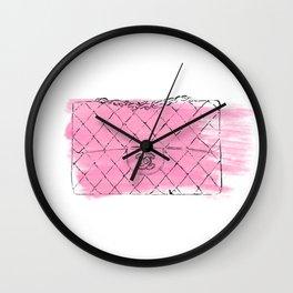 Pink bag #2 Wall Clock