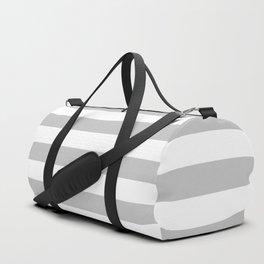 Stripes (Gray & White Pattern) Duffle Bag
