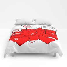 NO MORE VALENTINE'S DAY (love valentine) Comforters