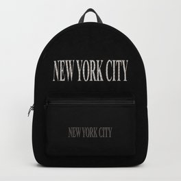 New York City (type in type on black) Backpack