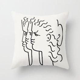 Poster-Jean Cocteau-Three profiles. Throw Pillow