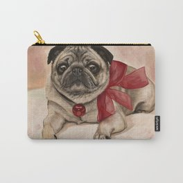The pug with a red bow Carry-All Pouch
