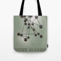 alcohol Tote Bags featuring Drunk Alcohol by FalexanderArt
