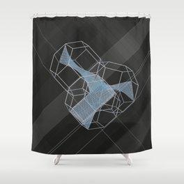 trple per mnml srf_001 Shower Curtain