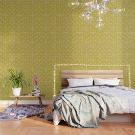 70's Yellow Floral Wallpaper