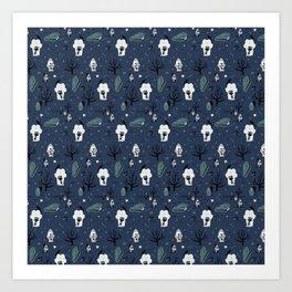 Tombstone - Blue Art Print