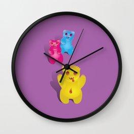 Zombie Gummy Bears Wall Clock