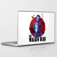 christopher walken Laptop & iPad Skins featuring The Walken Dead – The Walking Dead Parody – Christopher Walken Zombie by ptelling