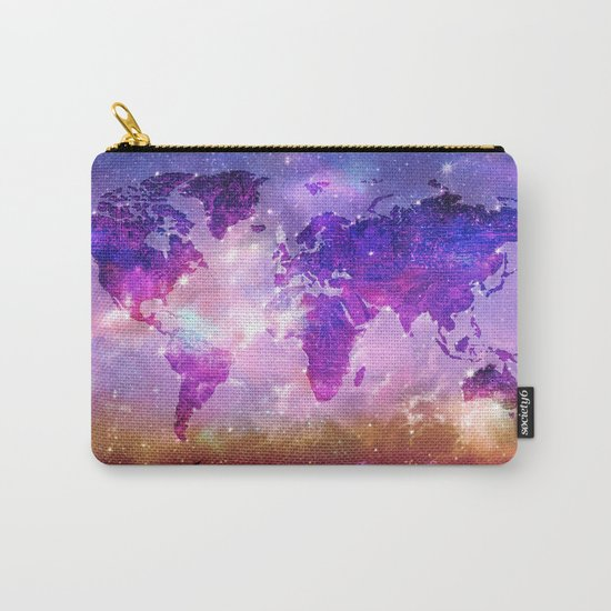 world map galaxy sky Carry-All Pouch