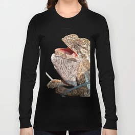 A Chameleon With Open Mouth Isolated Long Sleeve T-shirt