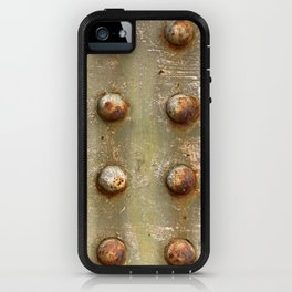 background with steel rivets iPhone Case