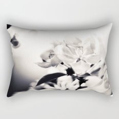 Black and White Flowers 2 Rectangular Pillow